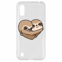 Чохол для Samsung A01/M01 Love sloths