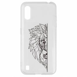 Чохол для Samsung A01/M01 Low poly lion head