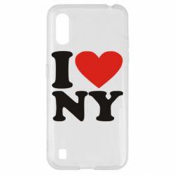 Чохол для Samsung A01/M01 Люблю Нью Йорк