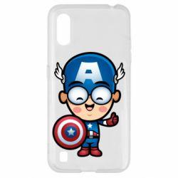 Чехол для Samsung A01/M01 Маленький Капитан Америка