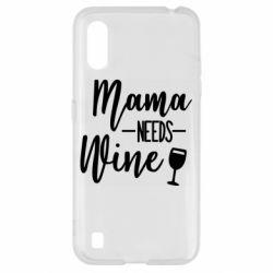 Чехол для Samsung A01/M01 Mama need wine