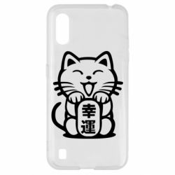 Чехол для Samsung A01/M01 Maneki-neko, cat bringing luck