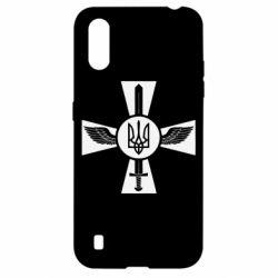Чехол для Samsung A01/M01 Меч, крила та герб