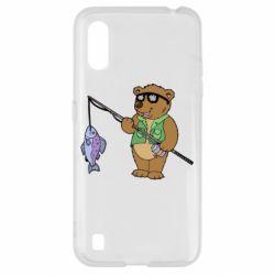 Чохол для Samsung A01/M01 Ведмідь ловить рибу