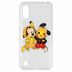 Чехол для Samsung A01/M01 Mickey and Pikachu