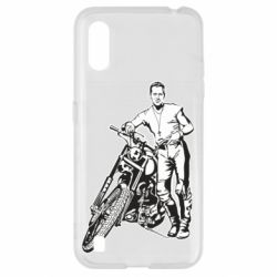 Чехол для Samsung A01/M01 Mickey Rourke and the motorcycle