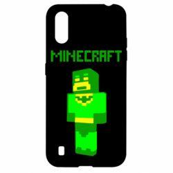 Чехол для Samsung A01/M01 Minecraft Batman