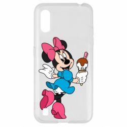 Чехол для Samsung A01/M01 Minnie Mouse and Ice Cream