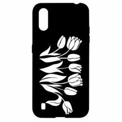 Чохол для Samsung A01/M01 Monochrome tulips