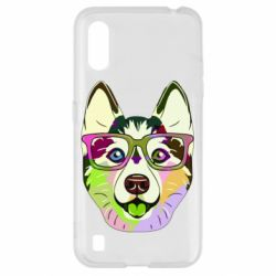 Чохол для Samsung A01/M01 Multi-colored dog with glasses
