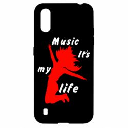 Чохол для Samsung A01/M01 Music it's my life