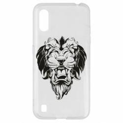 Чехол для Samsung A01/M01 Muzzle of a lion