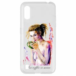 Чехол для Samsung A01/M01 Naked girl with coffee