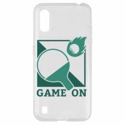 Чехол для Samsung A01/M01 Настольный Теннис игра