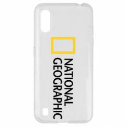 Чехол для Samsung A01/M01 National Geographic logo