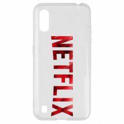 Чехол для Samsung A01/M01 Netflix logo text