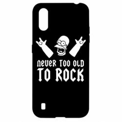 Чехол для Samsung A01/M01 Never old to rock (Gomer)