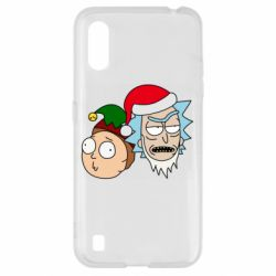 Чехол для Samsung A01/M01 New Year's Rick and Morty