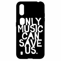 Чехол для Samsung A01/M01 Only music can save us.