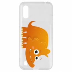 Чехол для Samsung A01/M01 Orange dinosaur
