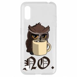 Чехол для Samsung A01/M01 Owl and coffee