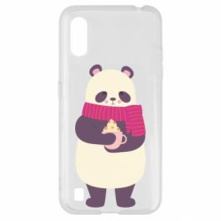 Чехол для Samsung A01/M01 Panda and Cappuccino