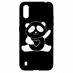 Чохол для Samsung A01/M01 Panda and heart