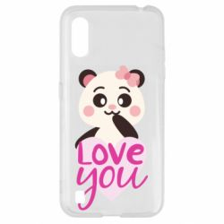 Чехол для Samsung A01/M01 Panda and love