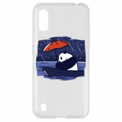 Чехол для Samsung A01/M01 Panda and rain
