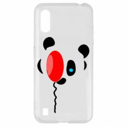 Чехол для Samsung A01/M01 Panda and red balloon
