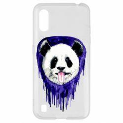 Чехол для Samsung A01/M01 Panda on a watercolor stain