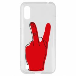 Чехол для Samsung A01/M01 Peace and middle finger