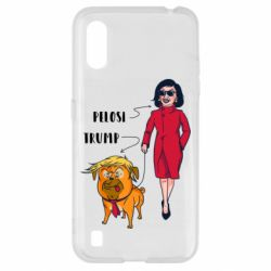 Чехол для Samsung A01/M01 Pelosi and Trump