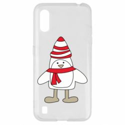 Чехол для Samsung A01/M01 Penguin in the hat and scarf