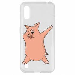 Чохол для Samsung A01/M01 Pig dab