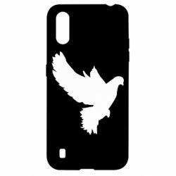 Чехол для Samsung A01/M01 Pigeon silhouette