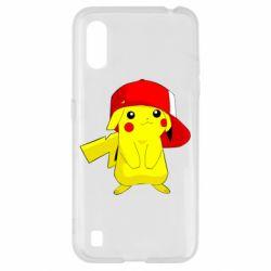 Чехол для Samsung A01/M01 Pikachu in a cap