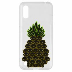 Чехол для Samsung A01/M01 Pineapple cat