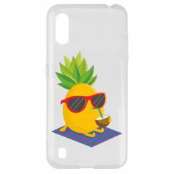 Чехол для Samsung A01/M01 Pineapple with coconut