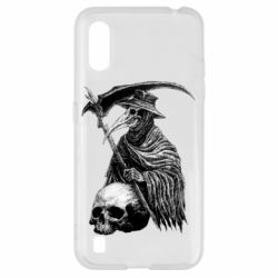 Чехол для Samsung A01/M01 Plague Doctor graphic arts