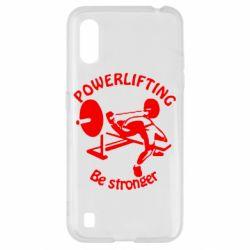 Чехол для Samsung A01/M01 Powerlifting be Stronger