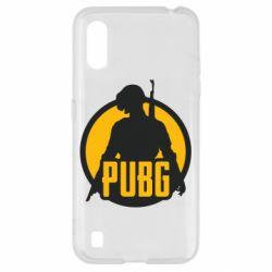 Чехол для Samsung A01/M01 PUBG logo and game hero