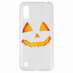Чохол для Samsung A01/M01 Pumpkin face features