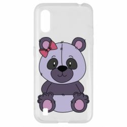 Чохол для Samsung A01/M01 Purple Teddy Bear