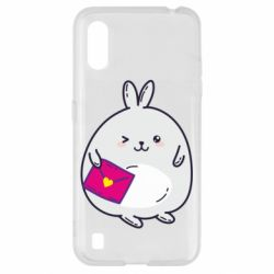 Чохол для Samsung A01/M01 Rabbit with a letter