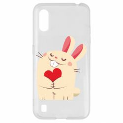Чехол для Samsung A01/M01 Rabbit with heart