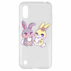 Чохол для Samsung A01/M01 Rabbits In Love
