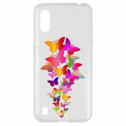 Чохол для Samsung A01/M01 Rainbow butterflies