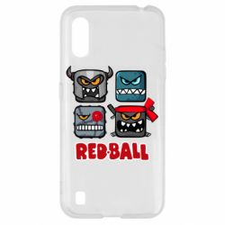 Чехол для Samsung A01/M01 Red ball heroes