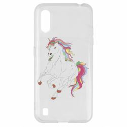 Чехол для Samsung A01/M01 Red eye unicorn